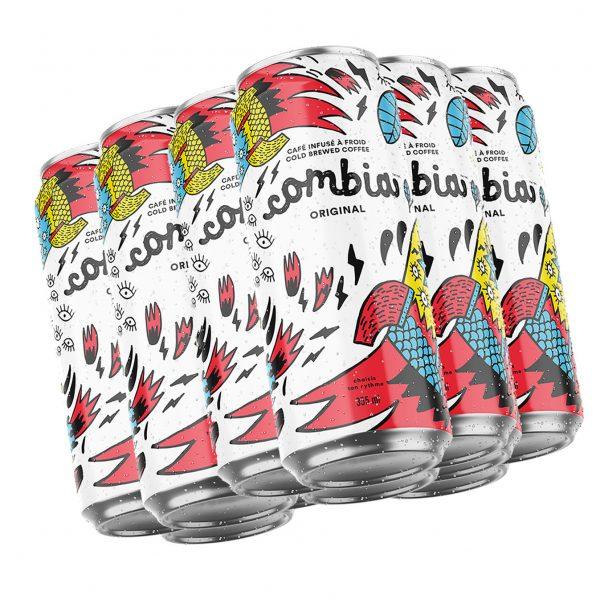 Café Infusé à froid Combia Original 12 cannettes