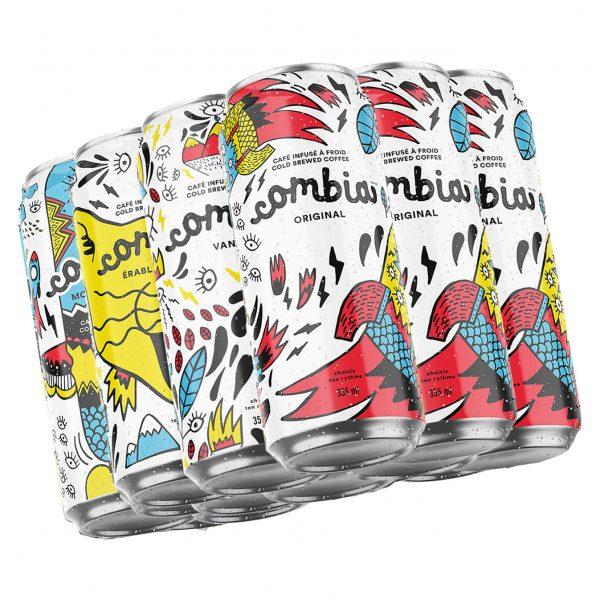 Café Infusé à froid Combia Découverte 12 cannettes